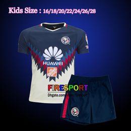 Wholesale America Mexico - New Arrived 2017 2018 Mexico Club America Kids Soccer Jersey O.MARTINEZ P.AGUILAR Camiseta de futebol Youth Boys 17 18 Football Shirts