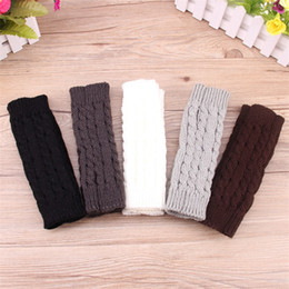 Wholesale Fingerless Arm Gloves - Knitted Arm Sleeve For Lady Winter Mittens Multi Colors Keep Warm Gloves Comfortable Hot Sale 3 8nq C