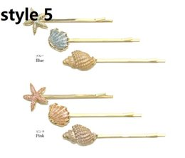 Wholesale Ponytail Combs - 15% off! New Bling Punk Women Golden Leaf Hair Comb Hair Clip Geometric Metallic Hairpin Barrettes Ponytail Holder Hair Accessories 15pcs