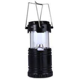 Canada Style classique 6 LED Rechargeable Main Lampe Pliable Solaire Camping Lanterne Tente Lumières pour Éclairage Extérieur Randonnée luminaire cheap led light lamp collapsible Offre
