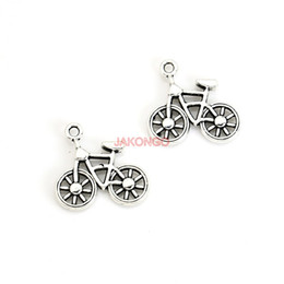 Wholesale Bike Charms - 20pcs Antique Silver Plated Bike Bicycle Charms Pendants for Necklace Bracelet Jewelry Accessories Making DIY Handmade 19x20mm