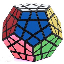 Wholesale Puzzle Stickers - Newest Shengshou Megaminx Magic Cubes Pentagon 12 Sides Gigaminx PVC Sticker Dodecahedron Toy Puzzle Twist DHL Free