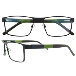 Wholesale Nerd Glasses Clear Frames - Top Quality Italian Brand Designer Men Rectangle Full Rim Metal Fashion Prescription Optical GLasses Eyewear Frames