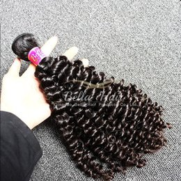 Wholesale Malaysian Curly Extensions - 3pcs lot 10-24inch Hair Weave Unprocessed Curly Hair Weft Natural Color Malaysian Human Hair Extensions Free Shipping Bella Hair