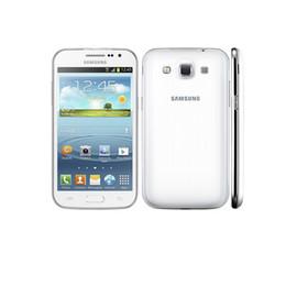 Wholesale Gsm Phone Android Wifi - Original Samsung Galaxy Win I8552 unlocked phone Quad Core Dual sim 4.7'' 5MP 1G 4G 3G GSM WIFI GPS dropshipping