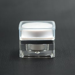 Wholesale Empty Acrylic Jars - 5g High Quality Acrylic Sample Cream with Inner Cover Jars Empty MINI Essence Cream Bottle Jars Makeup Containers 20pcs lot HN16
