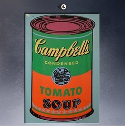 Arte andy warhol online-Framed Andy Warhol Campbell's Soup Can 1965-2 pop art, dipinto a mano moderno Graffiti Pop Wall Art Pittura ad olio su tela Multi formati 070
