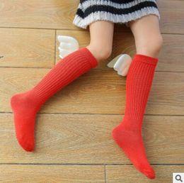 Wholesale Wholesale Kids Fashion Korea - Kids Socks Top Quality 3D Korea Cartoon Angel Wings Baby Cotton Knee High Kids Wings Socks Baby Leg Warmers Girl Fashion Socks