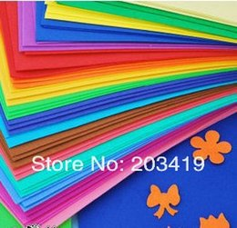 Wholesale Post Craft - Wholesale- color 50*50cm sponge foam paper for background fold scrapbook craft Punch stamping up die DIY gift decor card toy CN post