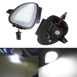 Wholesale Volkswagen B7 - 2 pcs Error Free 6 LED White Car Under Side Mirror Puddle Light Internal Lamps Fit for VW Golf6 GTI Cabriolet Passat B7 Touran