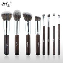 Wholesale Making Starter Kits - Anmor Essential Makeup Brushes 8Pcs Make Up Brushes Set Synthetic Starter Makeup Tools Gr 003