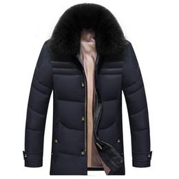 Wholesale Brown Fox Fur Collar - Fall-Warm Down Jacket Winter New Man With Fur Collar Thickening Outdoor Coat Winter Jacket Men MW5030721