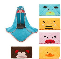 Wholesale Frog Bee - wholesale arrival baby towl and bathrobe 2017 cartoon animal designs multi color baby towls cow frog duck bee cotton