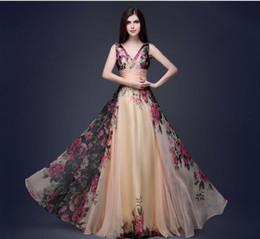 Wholesale Dresse For Women - Europe elegant print dress women evening deep V long skirts dresses for womens summer dresses for women maxi dress club dresses party dresse