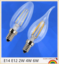 Wholesale Bright Candles - Wholesale - 2W 4W 6W E14 E12 E27 Led Candle Bulbs Lights Warm White High Bright Led Spot Lights NO Dimmable AC85-265V CE ROHS