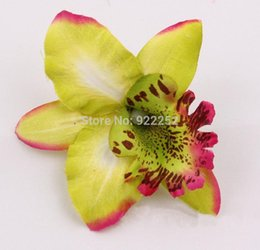 Wholesale White Orchid Heads - artificial silk butterfly flower head ,Thai phalaenopsis orchid,diy craft arrangements for wedding party decoration&hair garland