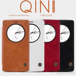Wholesale Dual Sim Phone G4 - Original Nillkin for LG G4 Quick Circle Case for LG G4 H815 H818 Flip Leather Cover Sleep Wake Phone Shell for LG G4 Dual SIM