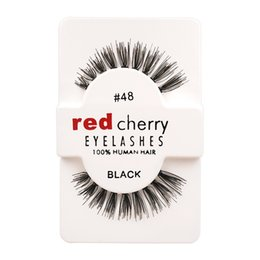 Wholesale Super D - 12 Pairs Box Red Cherry Handmade Mink False Eyelashes and Super Long Messy Natural Eyelashes for Beauty Makeup