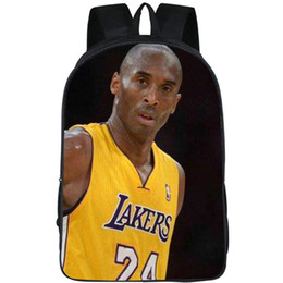 Wholesale Pack Photo - Casual walk backpack Kobe Bryant daypack Basketball picture schoolbag Photo rucksack Sport school bag Outdoor day pack