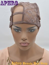 Wholesale Weave Suppliers - Instock Machine Made wig Caps U Part Lace Wigs Caps Hair Weft making cap, weaving caps weave Net Supplier Size Medium Lace Cap