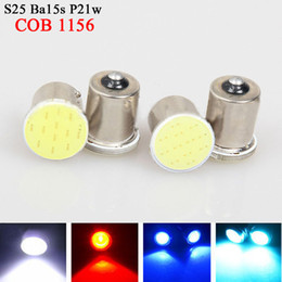 Wholesale 1156 Led Light Rv - Super White cob p21w led 12SMD 1156 ba15s 12v bulbs RV Trailer Truck car styling Light parking Auto led Car lamp