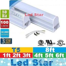Wholesale Tube Bulbs - 1ft 2ft 3ft 4ft 5ft 8ft led t5 tube lights Cooler Lighting Integrated CREE Led Lights Tubes Bulbs AC 110-240V Warranty 3 Years