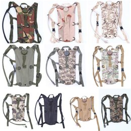 Wholesale Bicycle Bag Brown - Free DHL Water Rucksack Backpack Bladder Bag Cycling Bicycle Bike Hiking Pouch 3L Hydration Bladder Outdoor Gear 10 Color E596L
