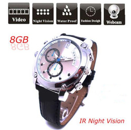 Wholesale Spy Watches 4gb - W7000 Waterproof FULL HD 1080P Watch Camera 4GB 8GB 16GB with IR night vision Spy Watch Hidden Pinhole camera mini DVR