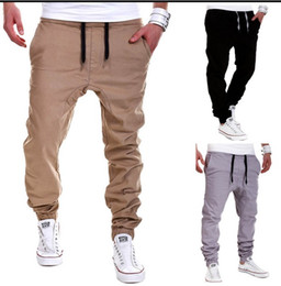 Wholesale Open Leggings Crotch - Spring and summer men 's solid color tethers elastic pants open crotch pants trend casual pants M--2XL