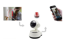 Wholesale wireless ip ccd camera - 720P WiFi Smart Home Wireless Surveillance Camera Rotating network HD cameras CCTV Infrared night vision IP Camera