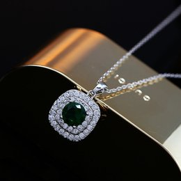 Wholesale Chain Link Inserts - 2016 new arrival high quality real gold plated AAA zircon necklace, woman fashion Micro-inserts pendent necklace South Korea jewelry