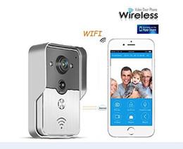 Wholesale Door Phone Bell - WIFI Door Bell Phone Wireless Doorphone Viewer Intercom support IOS&Andorid APPS Control Smart Home