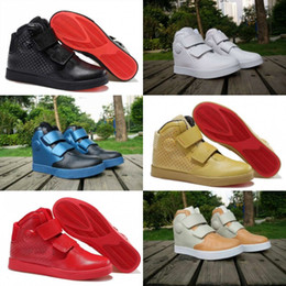 Wholesale Mens Outdoor Cow Leather Boots - 2016 Popular FLYSTEPPER 2K3 PRM QS White Outdoors Mens Leather Shoes Athletic Training Sneakers High Quality Sports Shoes Running Boots