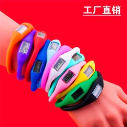 Wholesale Silicone Ion Health Watch - Anion Health Sports Wrist Watch Digital Bracelet Unisex Men Women Silicon Rubber Jelly Ion Watch Healthy Digital Casual Led Wristwatches