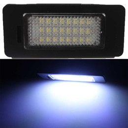 Wholesale Rear License Plate Lights - 2X Error Free 24 SMD LED License Plate Light Lamp For VW Golf 7 Jetta Sharan 7N