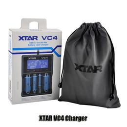 Lcd display ladegerät online-Original XTAR VC4 Intellichage Batterieladegerät mit LCD-Display für 18350 18650 26650 3.6V / 3.7V Li-Ion / Ni-MH / Ni-CD Batterien