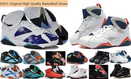 Wholesale Ivory Lace Satin Shoes - Wholesale Retro 4-6-7-9-10-11-12-13 Woman Men Basketball Shoes Sneakers 100% Original Retro 7 VII 7s Basketball Shoes Cheap 7s Sports Shoes
