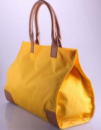 Wholesale Green Cotton Tote Bag - fashion hot classic women double T totes personality bags Famous Designers Brand waterproof nylon handbag shopping bag 502 size42*32*12cm