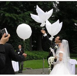 Wholesale Dove Balloons - Hot Wedding Decoration White Dove Balloon White Wedding Balloons Eco-Friendly Biodegradable Helium Balloons Party Favors DHL Shipping