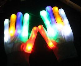 Guantes de iluminación LED Parpadeante Cosplay Guante de novedad Juguete de luz LED Fiesta de Navidad de Halloween Guantes de LED desde fabricantes