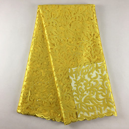 Wholesale Swiss Embroidery Lace Fabric - African Swiss beautiful Tulle Lace, 0111, Free Shipping African Wedding lace High Quality5yards Lot, 100% African Embroidery Fabric