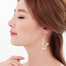 Wholesale Pearl Drop Earrings White Gold - beijia Gold Silver Handmade Crystal Pearl Bridal Drop Earrings Wedding Prom Jewelry