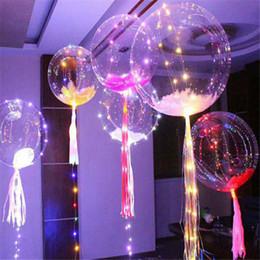 Argentina Nuevo Luminoso Led Transparente 3 metros Globo intermitente Decoraciones de fiesta de bodas Suministros de vacaciones Color Globos luminosos Siempre brillante Suministro