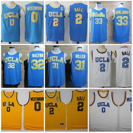 Wholesale Ball Shirts - New UCLA Bruins College Jerseys 42 Kevin Love Shirt 33 Kareem Abdul Jabbar 0 Russell Westbrook 31 Reggie Miller 32 Bill Walton 2 Lonzo Ball