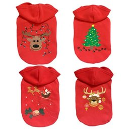 Wholesale Merry Christmas Costume - Christmas Dog Clothes Cotton Winter Merry Christmas Pet Dog Clothing Cat Teddy Puppy Chihuahua Poodle Hoodie Coat Jacket Costume MT-027