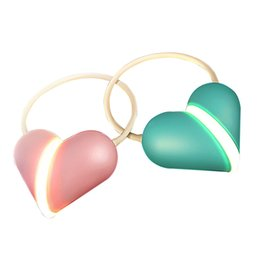 Wholesale Read Locks - Adorable Heart Lock 14 LED Twistable Night Lamp 3 Modes Smart Touch Switch USB Charging Dimmable Reading Light