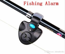 Wholesale Free Running Flash - Outdoor Fishing Alarm with LED light Electronic Fish Bite Alarm Finder Sound Alert Running Clip On Fishing Rod Fly Fishing Tackle Free DHL