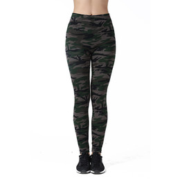 Wholesale Camouflage Leggings Wholesale - Wholesale- Top Quality Pant Camouflage Pattern Women Leggings At Home Leisure Trousers Female Fitness Leggings Sweatpants 25005