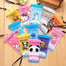 Wholesale Mobile Phone Pouches Cartoon - Cartoon Clear Waterproof Pouch Dry Case Cover For 5.5 inch Camera Mobile phone Waterproof Bags for IPHONE5 5S 6 6S PLUS S7
