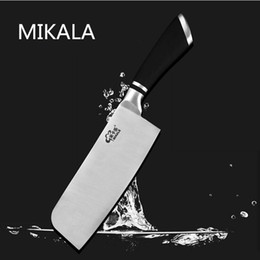 Wholesale Multi Purpose Kitchen Knife - Free Shipping MIKALA High Quality Stainless Steel Fashion Western Style Multi-purpose Kitchen Meat Slicing Fruit Vegetable Knife